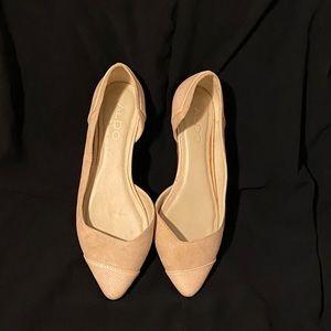 Aldo Flat Cream Shoes Size 7